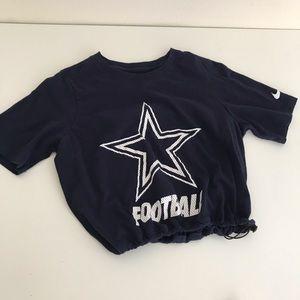 Dallas Cowboys drawstring crop tee